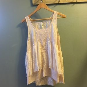 Free People Tops - Ballet pink lace sleeveless top